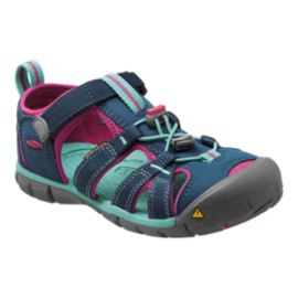 Keen Girls' Seacamp II Sandals - Navy/Berry