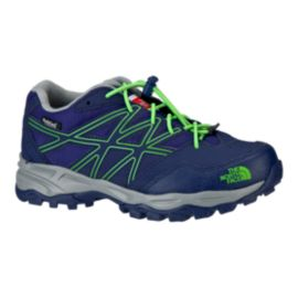 The North Face Kids' Hedgehog Hiker Hiking Shoes - Blue/Green