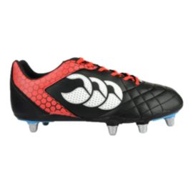 Canterbury Men's Stampede Club 8 Stud Rugby Cleats - Black/Red/White