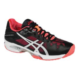 ASICS Women's Gel Solution Speed 3 Tennis Shoes - Black/Pink/White