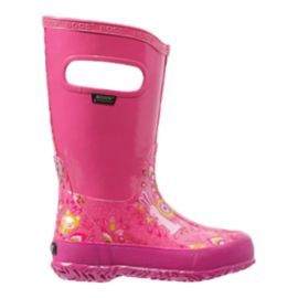 Bogs Forest Pink Girls' Pre-School Rain Boots