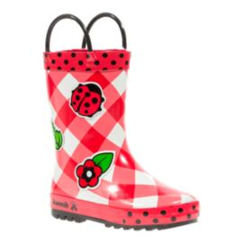 Kamik Lady Bug Girls' Toddler Rain Boots