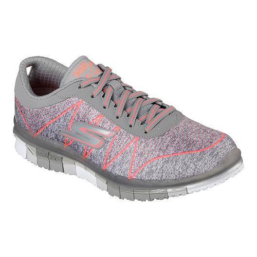 6cd45074882 Skechers Women's Go Flex Ability Walking Shoes - Grey/Pink | Sport Chek