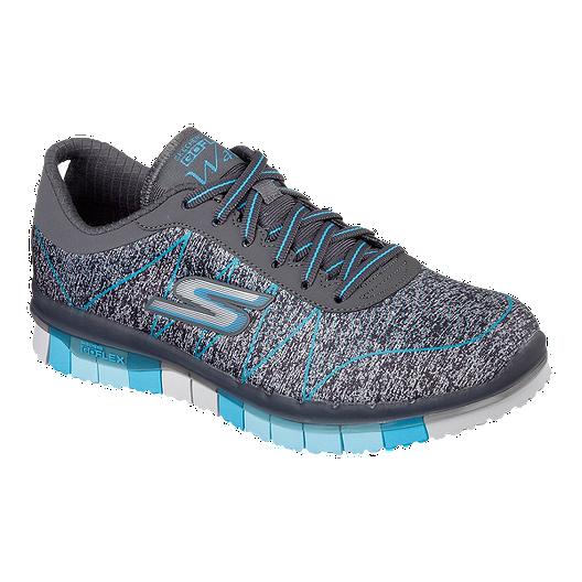 adee2642427 Skechers Women's Go Flex Ability Walking Shoes - Grey/Blue | Sport Chek