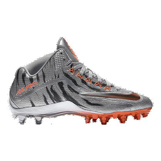 c3aa49d4901b Nike Men s Alpha Pro 2 Three-Quarter TD LE 2.0 Mid Football Cleats -  Silver Orange