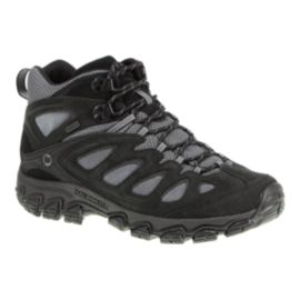 Merrell Men's Pulsate Mid Waterproof Lite-Hiking Shoes - Black/Castle Rock