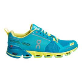 ON Women's Cloudflyer Running Shoes - Blue/Yellow