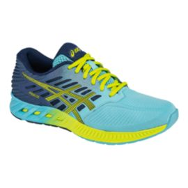 ASICS Women's fuzeX Running Shoes - Light Blue/Yellow/Navy