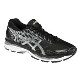 ASICS Men's Gel Nimbus 18 Running Shoes - Black/Silver