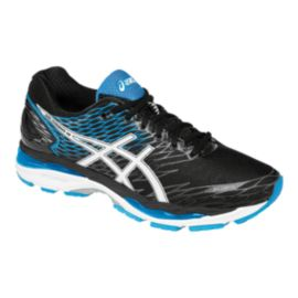 ASICS Men's Gel Nimbus 18 Running Shoes - Black/Blue