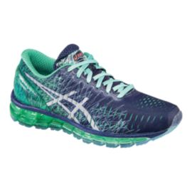 ASICS Women's Gel Quantum 360 Running Shoes - Indigo Blue/Teal Green