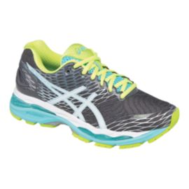 ASICS Women's Gel Nimbus 18 2A Narrow Width Running Shoes - Dark Grey/Teal/Green