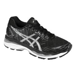 ASICS Women s Gel Nimbus 18 Running Shoes - Black Silver  decb22bbc3