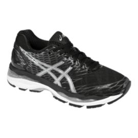ASICS Women's Gel Nimbus 18 Running Shoes - Black/Silver