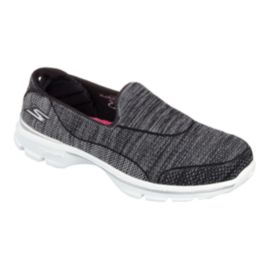 Skechers Women's GOwalk 3 SuperSock Casual Shoes - Black/White