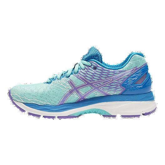 8d09e490 ASICS Women's Gel Nimbus 18 Running Shoes - Light Blue/Purple