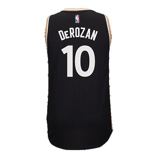396973cd8d6 Toronto Raptors DeMar DeRozan Swingman Pride 2 Basketball Jersey -  Black/Gold - BLACK
