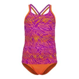 Nike Swim Flux Girls' SpiderBack Tankini Swimsuit