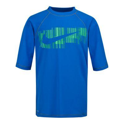 Nike Swim Boys' Rote Swoosh Hydro UV Rashguard