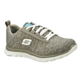 Skechers Women's Flex Appeal Next Gen Walking Shoes - Knit Grey/White