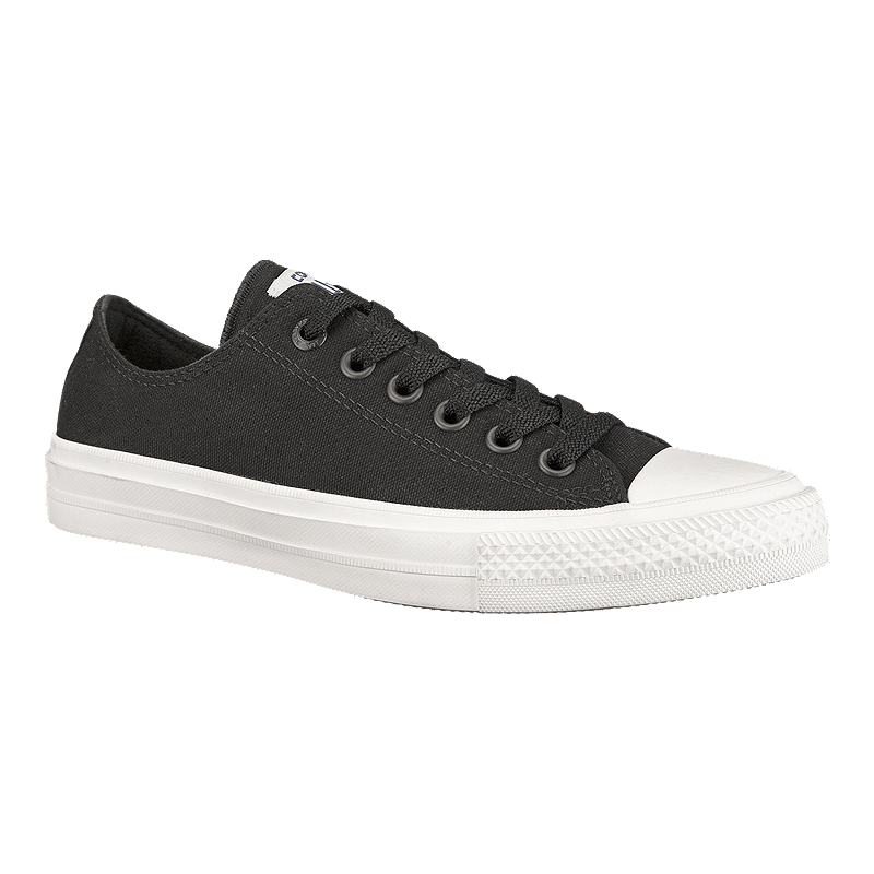Converse Men s Chuck Taylor II Ox Shoes - Black White  320907551