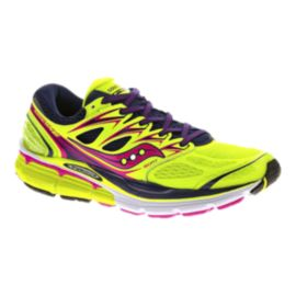 Saucony Women's Hurricane ISO Running Shoes - Yellow/Purple