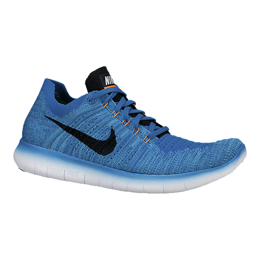 36bd8e3b5bd Nike Men s Free RN Flyknit 4.0 Running Shoes - Blue Black