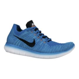 Nike Men's Free RN Flyknit 4.0 Running Shoes - Blue/Black