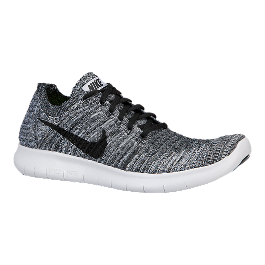 finest selection 37b72 a0a05 Nike Men's Free RN Flyknit 4.0 Running Shoes - Grey/Black ...