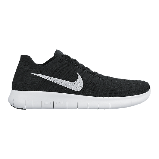 837fd1168317 Nike Men s Free RN Flyknit 4.0 Running Shoes - Black White