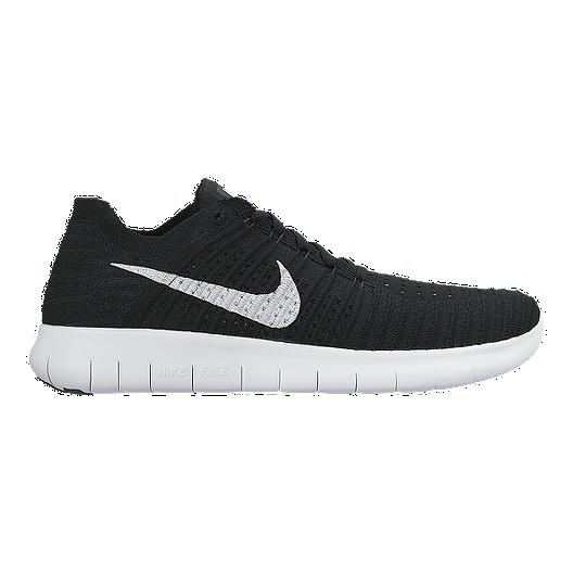 3c6f97d8ac03 Nike Men s Free RN Flyknit 4.0 Running Shoes - Black White