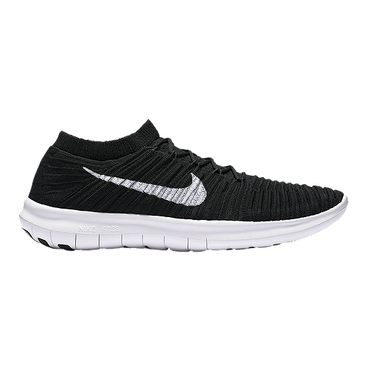 cef8a25eb0a Nike Men s Free RN Motion FlyKnit Running Shoes - Black White ...
