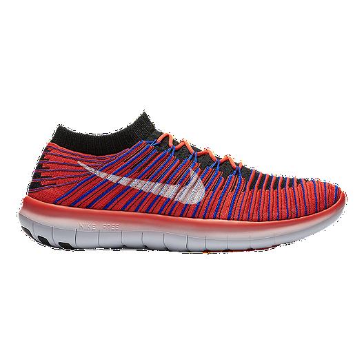 fcdf08e4822e Nike Men s Free RN Motion FlyKnit Running Shoes - Orange Blue Black ...