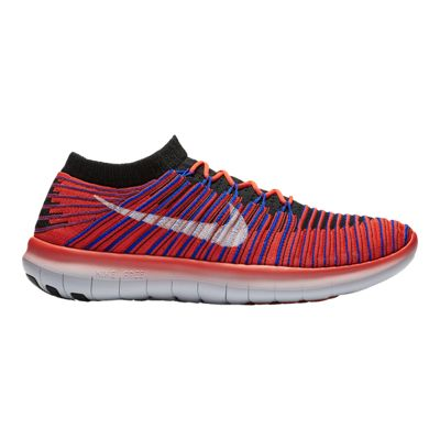 Nike Men's Free RN Motion FlyKnit Running Shoes - Orange/Blue/Black
