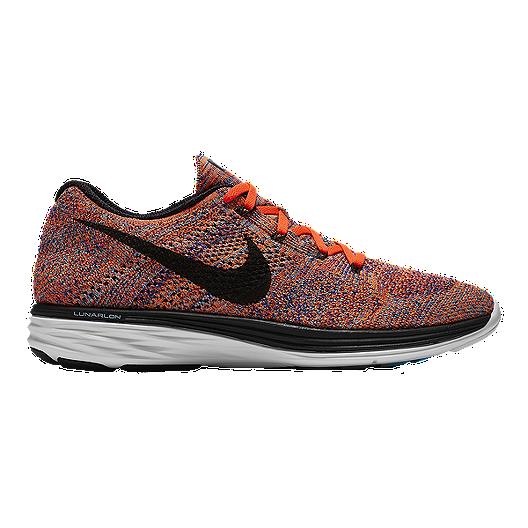9f66044b38ea Nike Men s FlyKnit Lunar 3 Running Shoes - Red Black