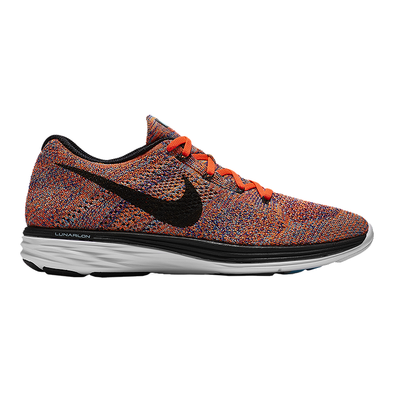 new product 2c683 fbac2 Nike Men's FlyKnit Lunar 3 Running Shoes - Red/Black