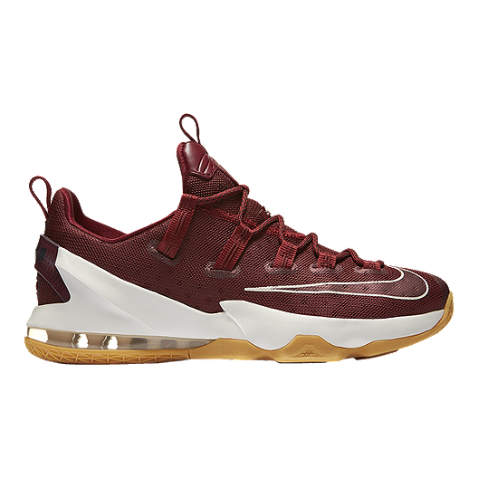 63d92e15b81 Nike Men s LeBron XIII Low Basketball Shoes - Red White Gum