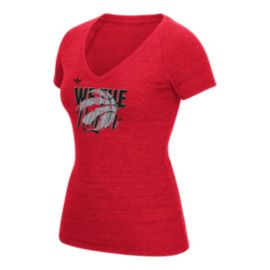 Toronto Raptors WTN Original V-Neck Dimension Tee - Red