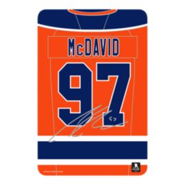 Edmonton Oilers Connor McDavid Jersey Graphic Wall Sign
