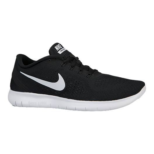45846c456b0e Nike Men s Free RN 2016 Running Shoes - Black White