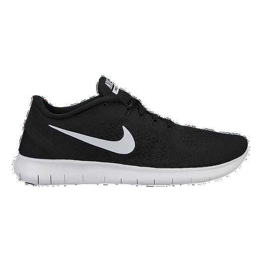 ba2296f42902 Nike Men s Free RN 2016 Running Shoes - Black White