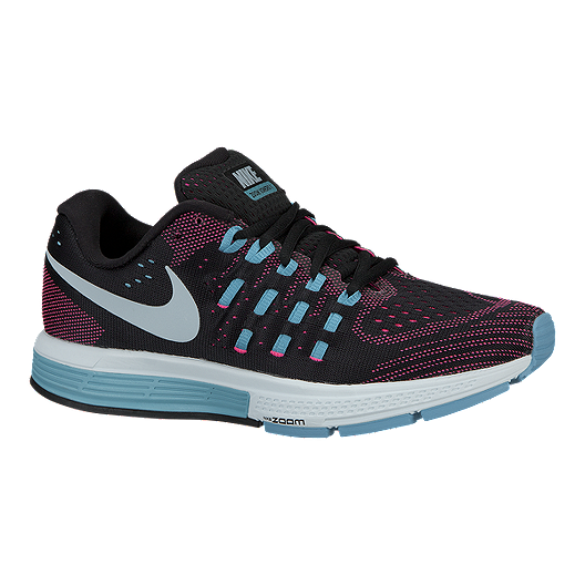 d8eaa2cfa28a Nike Women s Air Zoom Vomero 11 Running Shoes - Black Pink Blue ...