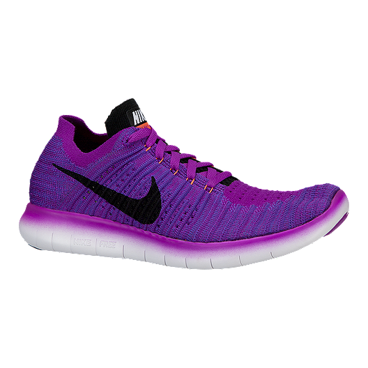 more photos 53e82 21241 Nike Women's Free RN Flyknit 4.0 Running Shoes - Purple ...