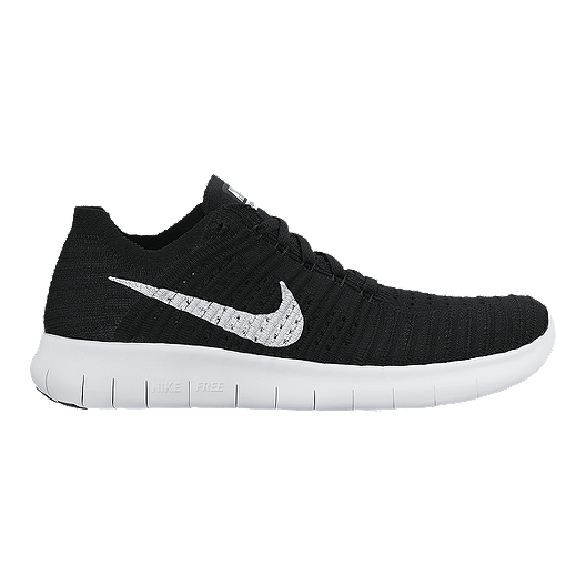 5d189b93c2d Nike Women s Free RN Flyknit 4.0 Running Shoes - Black White