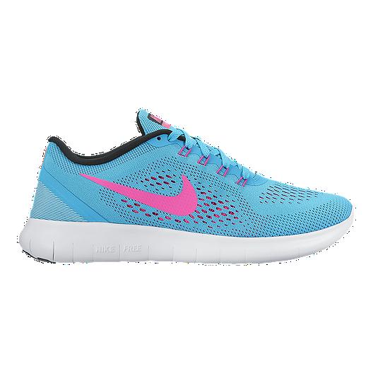 aa309f70eea9d Nike Women s Free RN 2016 Running Shoes - Blue Pink