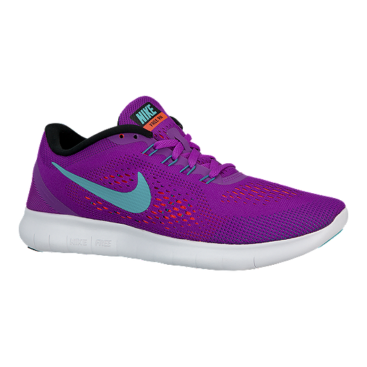 outlet store 32123 362bf Nike Women's Free RN 2016 Running Shoes - Purple/Aqua Blue ...