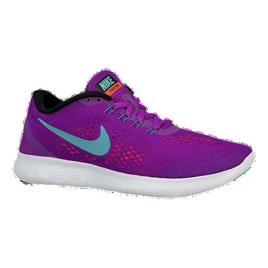 outlet store 31950 e70df Nike Women's Free RN 2016 Running Shoes - Purple/Aqua Blue ...