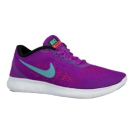 3f883565587d Nike Women s Free RN 2016 Running Shoes - Purple Aqua Blue White ...