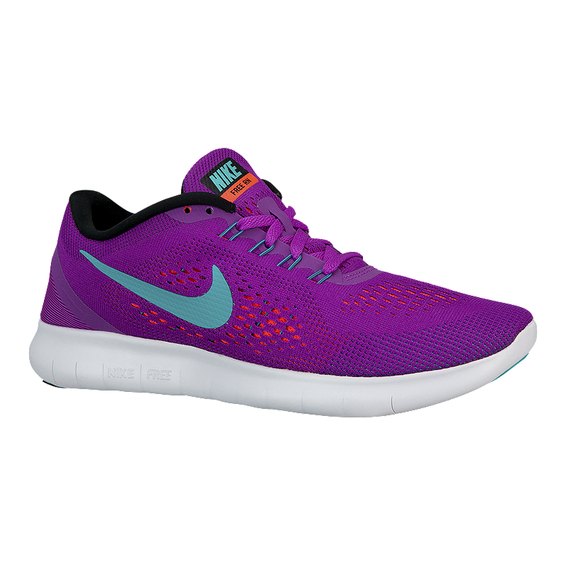 d88568153 Nike Women s Free RN 2016 Running Shoes - Purple Aqua Blue White ...