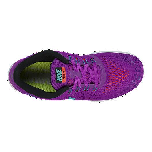 de8a1a026b88 Nike Women s Free RN 2016 Running Shoes - Purple Aqua Blue White. (3). View  Description